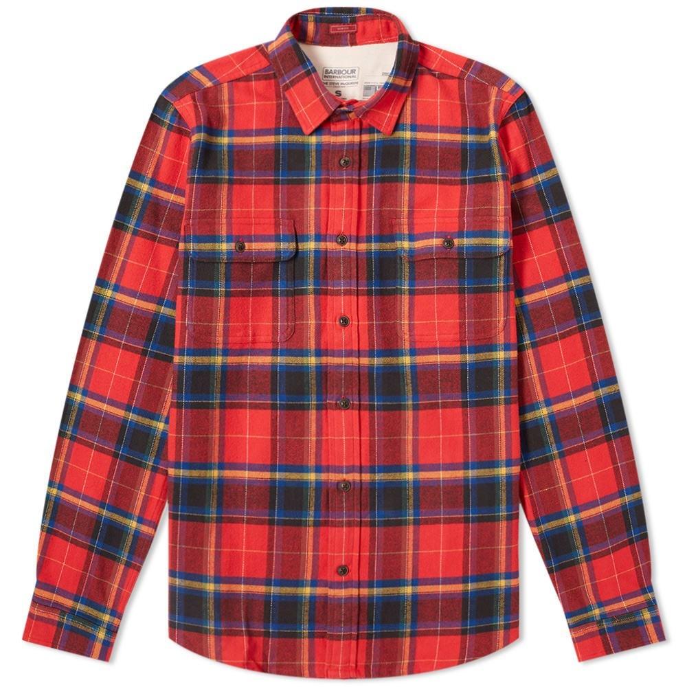 バブアー BARBOUR 【 INTERNATIONAL CHUCK SHIRT RED 】 メンズファッション トップス カジュアルシャツ 送料無料