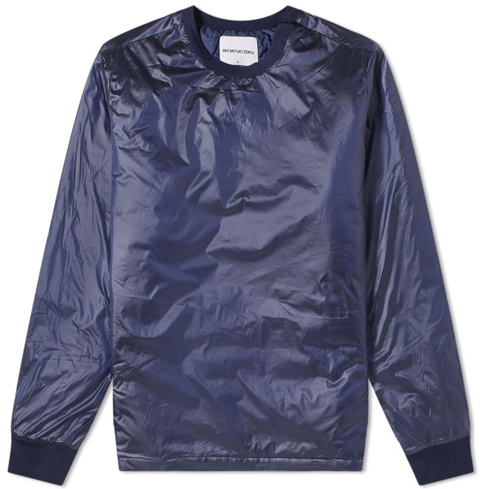 MKI パッド ナイロン 【 PADDED NYLON SWEAT NAVY 】 メンズファッション トップス スウェット トレーナー 送料無料