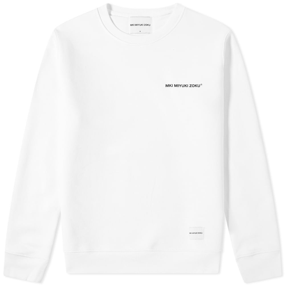 MKI ロゴ スウェット メンズファッション トップス トレーナー メンズ 【 Registered Logo Crew Sweat 】 White