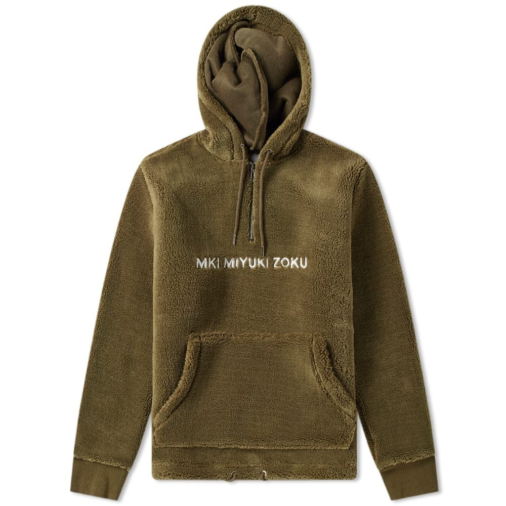 YUNY Mens Pullover Plus Velvet Hood Office Pocket Sweatshirt Army Green S
