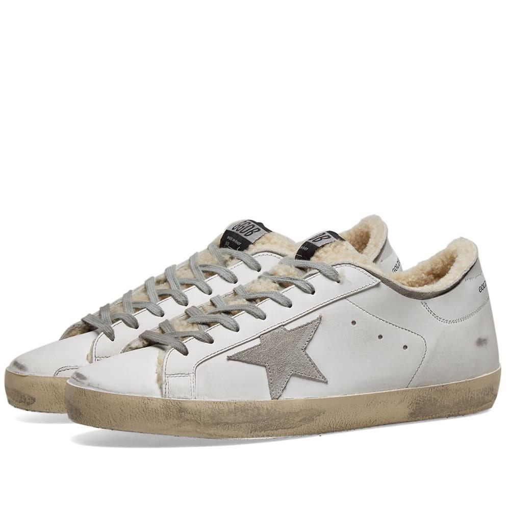 GOLDEN GOOSE スーパースター スニーカー メンズ 【 Superstar Shearling Sneaker 】 White