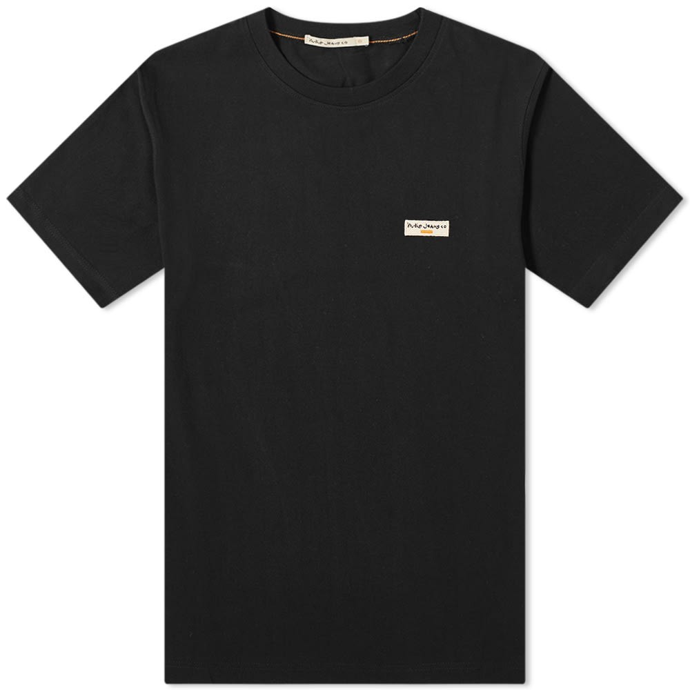 NUDIE JEANS CO ロゴ Tシャツ メンズファッション トップス カットソー メンズ 【 Nudie Daniel Logo Tee 】 Black