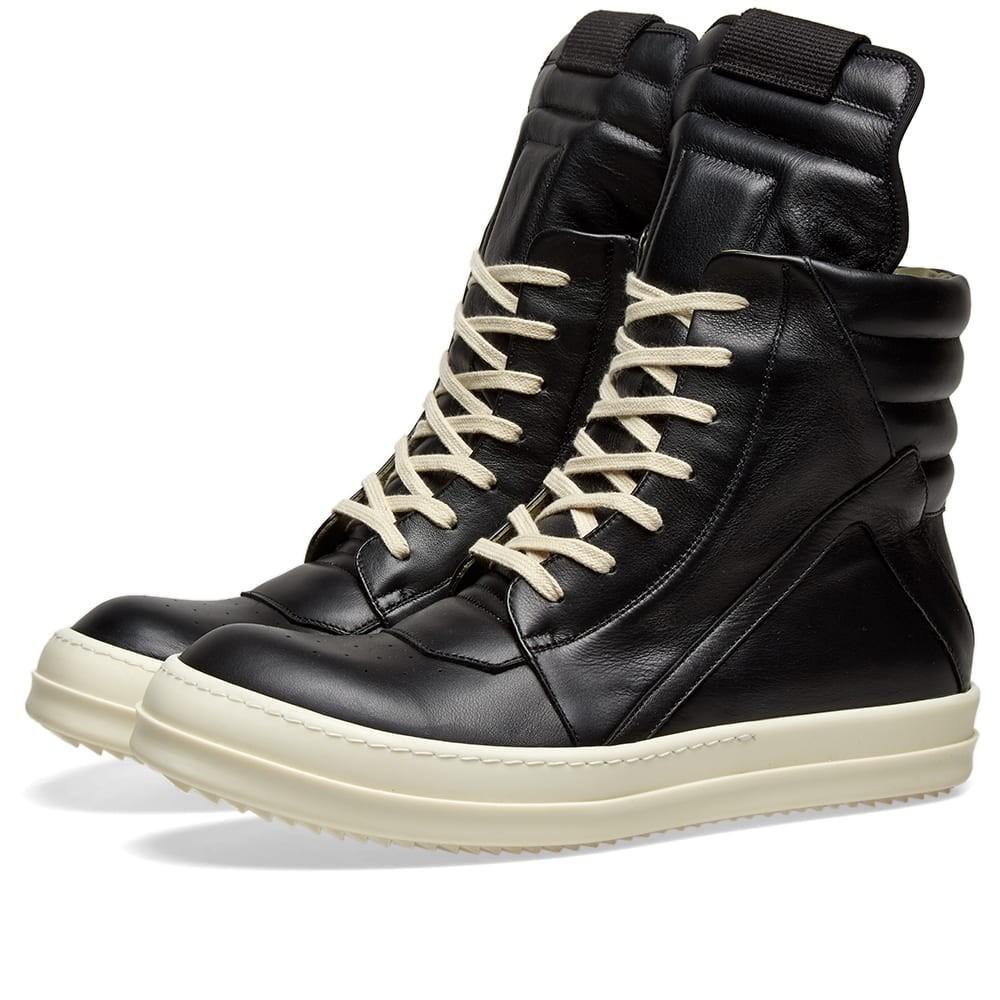 【スーパーセール商品 12/4-12/11】RICK OWENS スニーカー 【 GEOBASKET SNEAKER BLACK 】 メンズ 送料無料