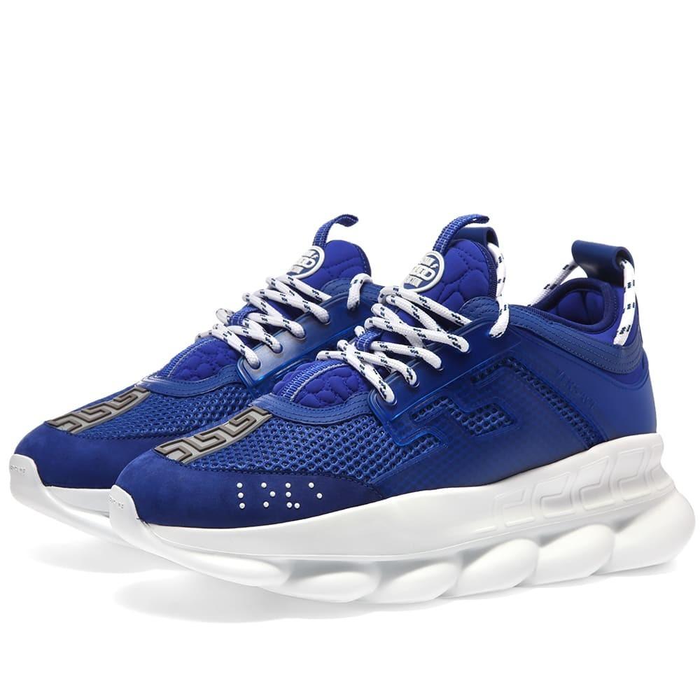 VERSACE スニーカー メンズ 【 Chain Reaction Sneaker 】 Bluette
