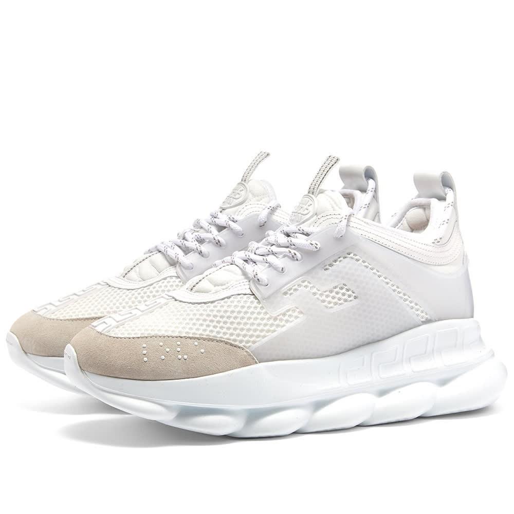 VERSACE スニーカー メンズ 【 Chain Reaction Sneaker 】 White
