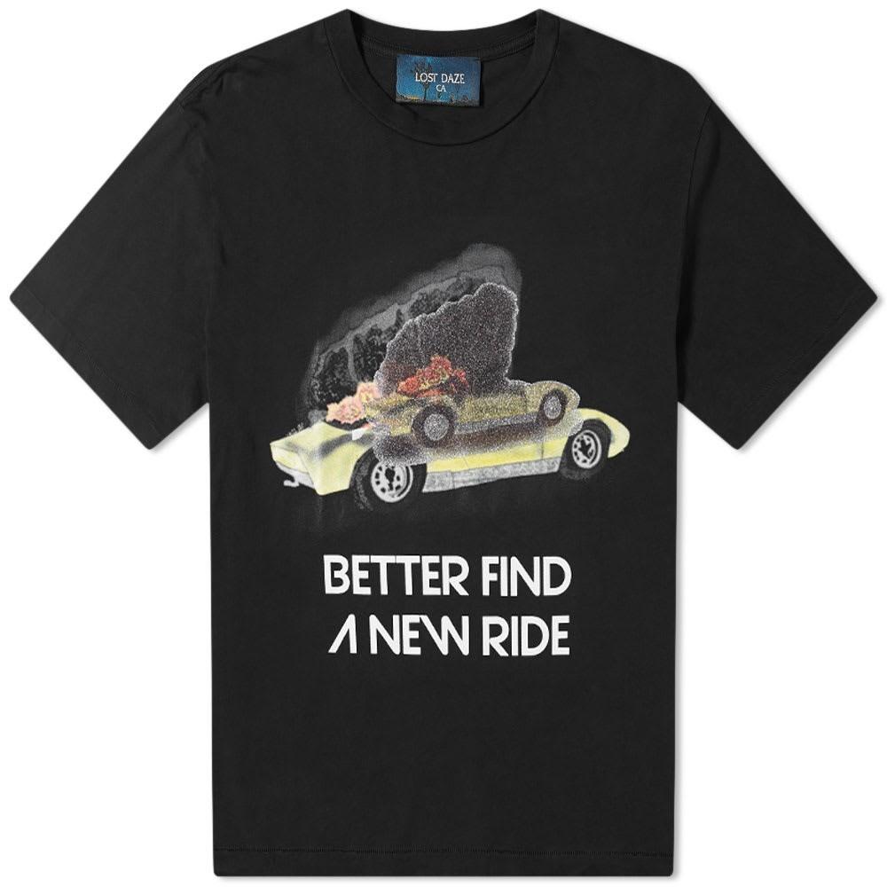 LOST DAZE & 【 NEW RIDE TEE WHITE BLACK 】 メンズファッション トップス Tシャツ カットソー 送料無料