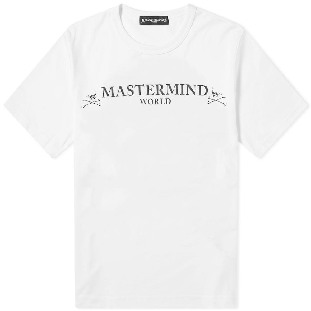 MASTERMIND WORLD ロゴ 【 LOGO TEE WHITE 】 メンズファッション トップス Tシャツ カットソー 送料無料