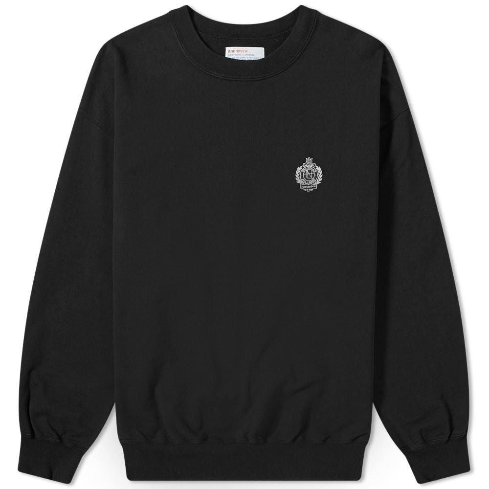 NANAMICA 【 CREW SWEAT BLACK 】 メンズファッション トップス スウェット トレーナー 送料無料