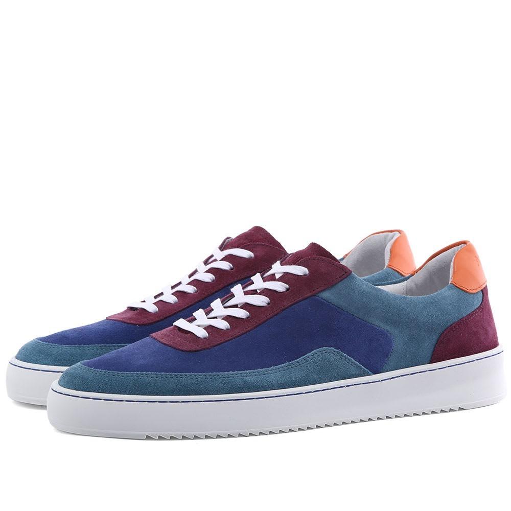 ASPESI スニーカー メンズ 【 X Filling Pieces Patchwork Sneaker 】 Blue Multi