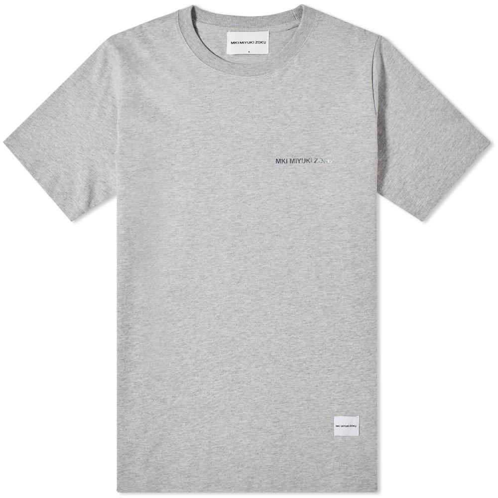【NeaYearSALE1/1-1/5】MKI ロゴ 【 MARBLE LOGO TEE GREY 】 メンズファッション トップス Tシャツ カットソー 送料無料