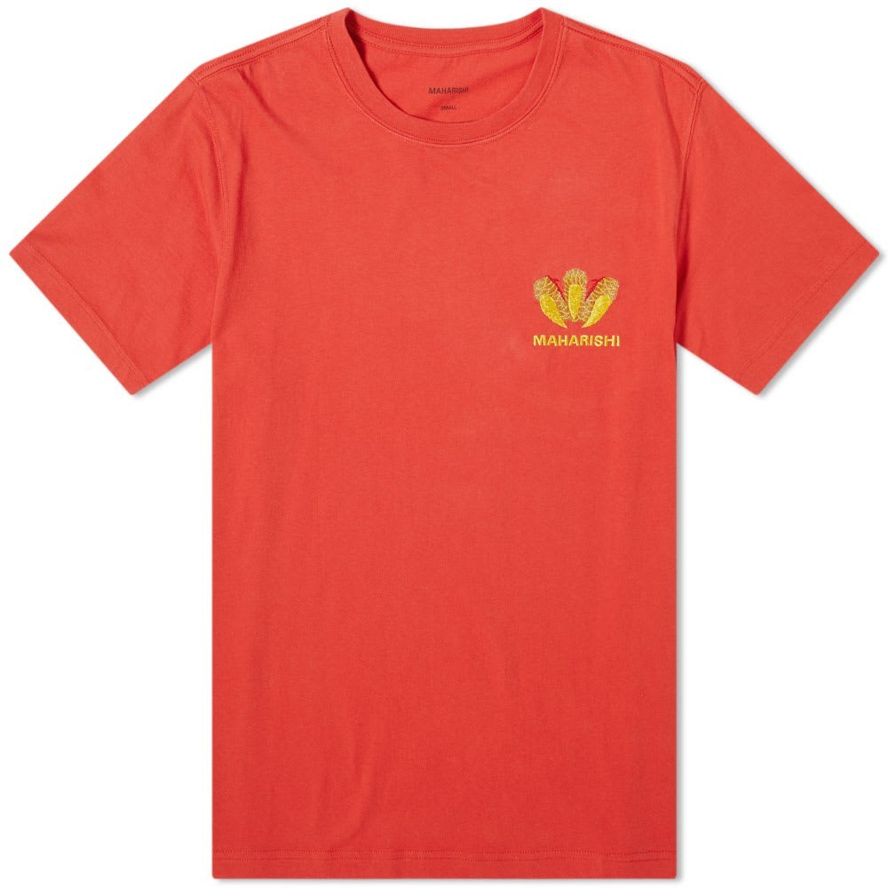 MAHARISHI Tシャツ メンズファッション トップス カットソー メンズ 【 Claw Embroidered Crew Tee 】 Flare Red
