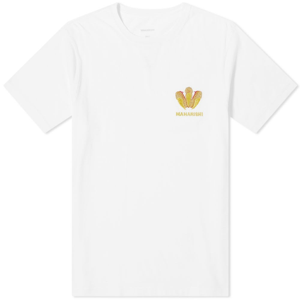 MAHARISHI Tシャツ メンズファッション トップス カットソー メンズ 【 Claw Embroidered Crew Tee 】 White Gold