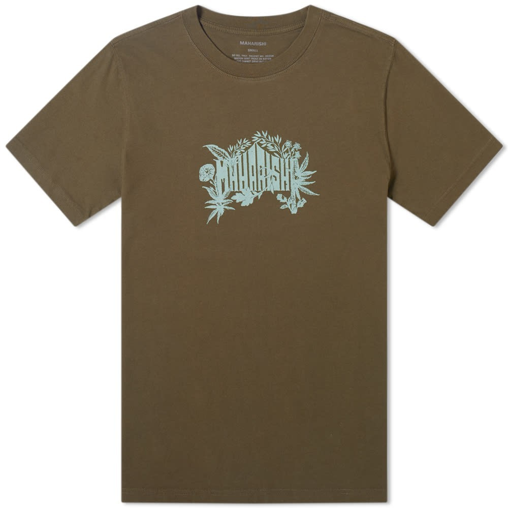 【NeaYearSALE1/1-1/5】MAHARISHI テンプル 【 PLANT TEMPLE PRINTED TEE MIL OLIVE 】 メンズファッション トップス Tシャツ カットソー 送料無料