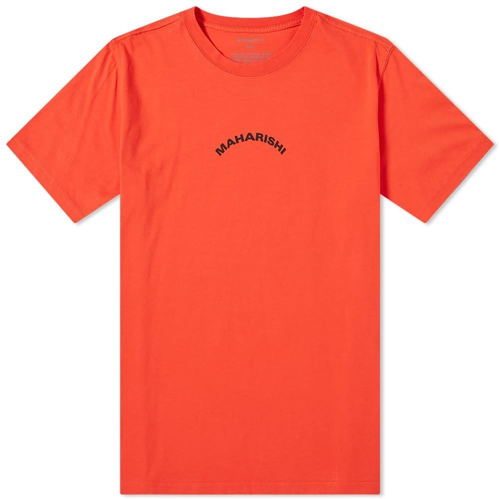 【NeaYearSALE1/1-1/5】MAHARISHI 【 CHAMELEON BONSAI PRINT TEE FLARE RED 】 メンズファッション トップス Tシャツ カットソー 送料無料
