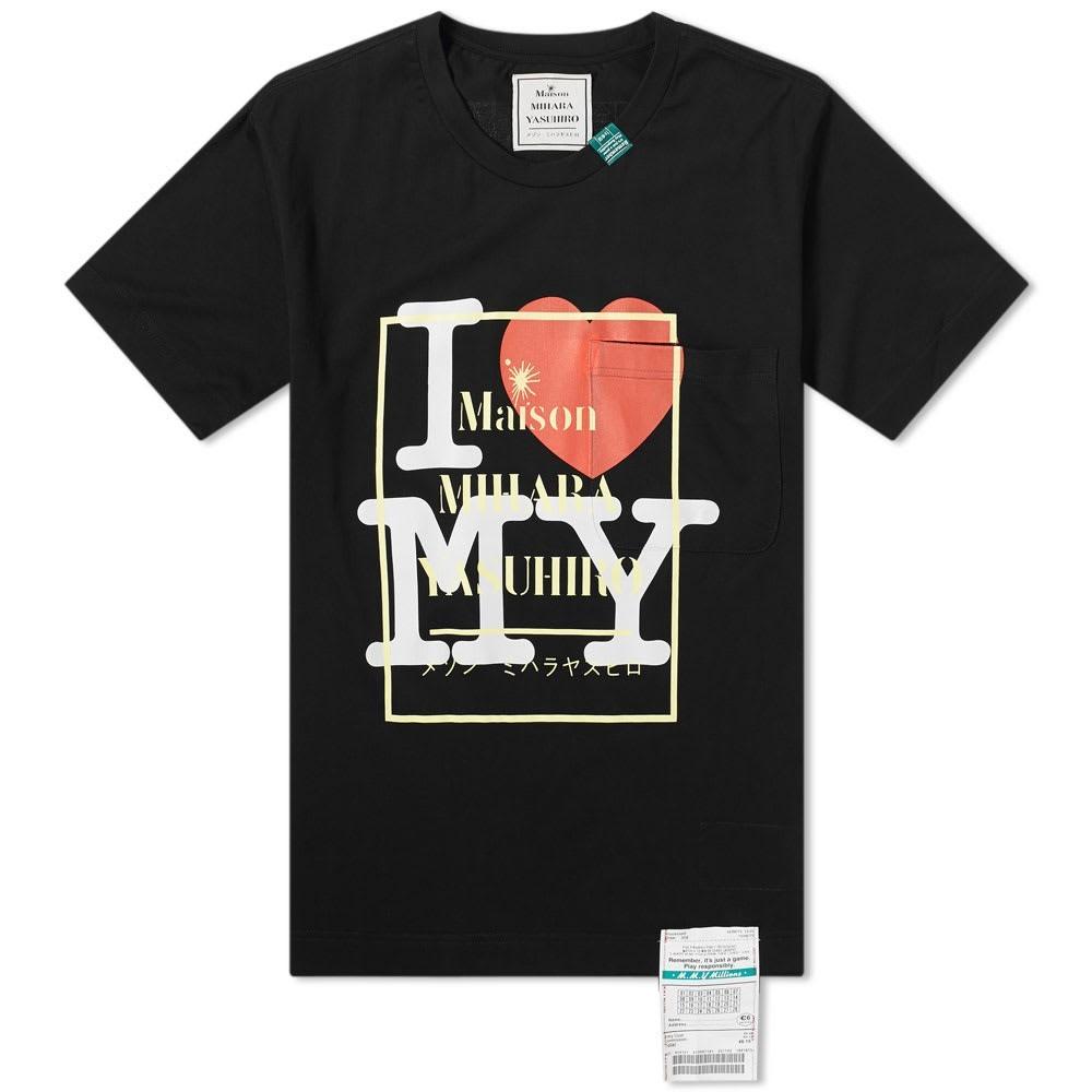 MAISON MIHARA YASUHIRO ロゴ Tシャツ メンズファッション トップス カットソー メンズ 【 Logo Printed Tee 】 Black