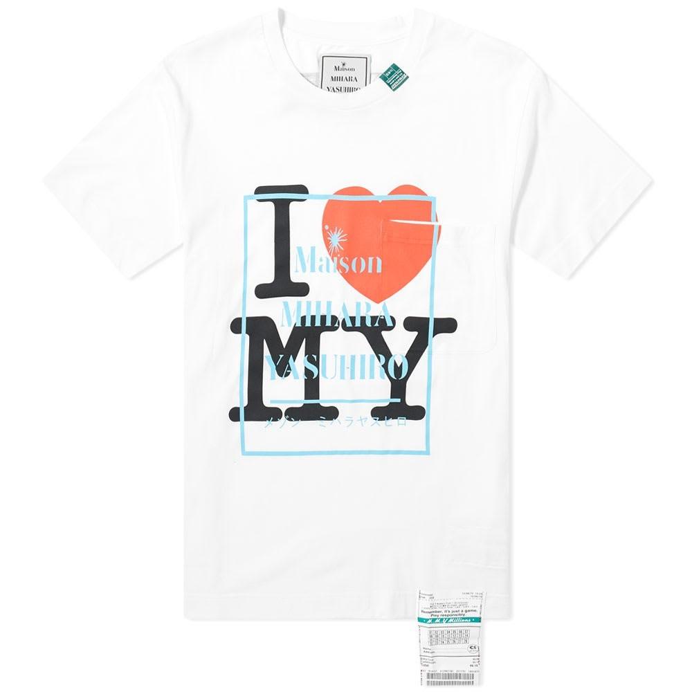 MAISON MIHARA YASUHIRO ロゴ Tシャツ メンズファッション トップス カットソー メンズ 【 Logo Printed Tee 】 White