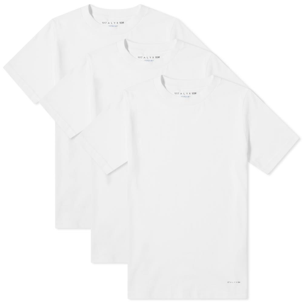 1017 ALYX 9SM Tシャツ 【 VISUAL TEE 3 PACK WHITE 】 メンズファッション トップス カットソー 送料無料