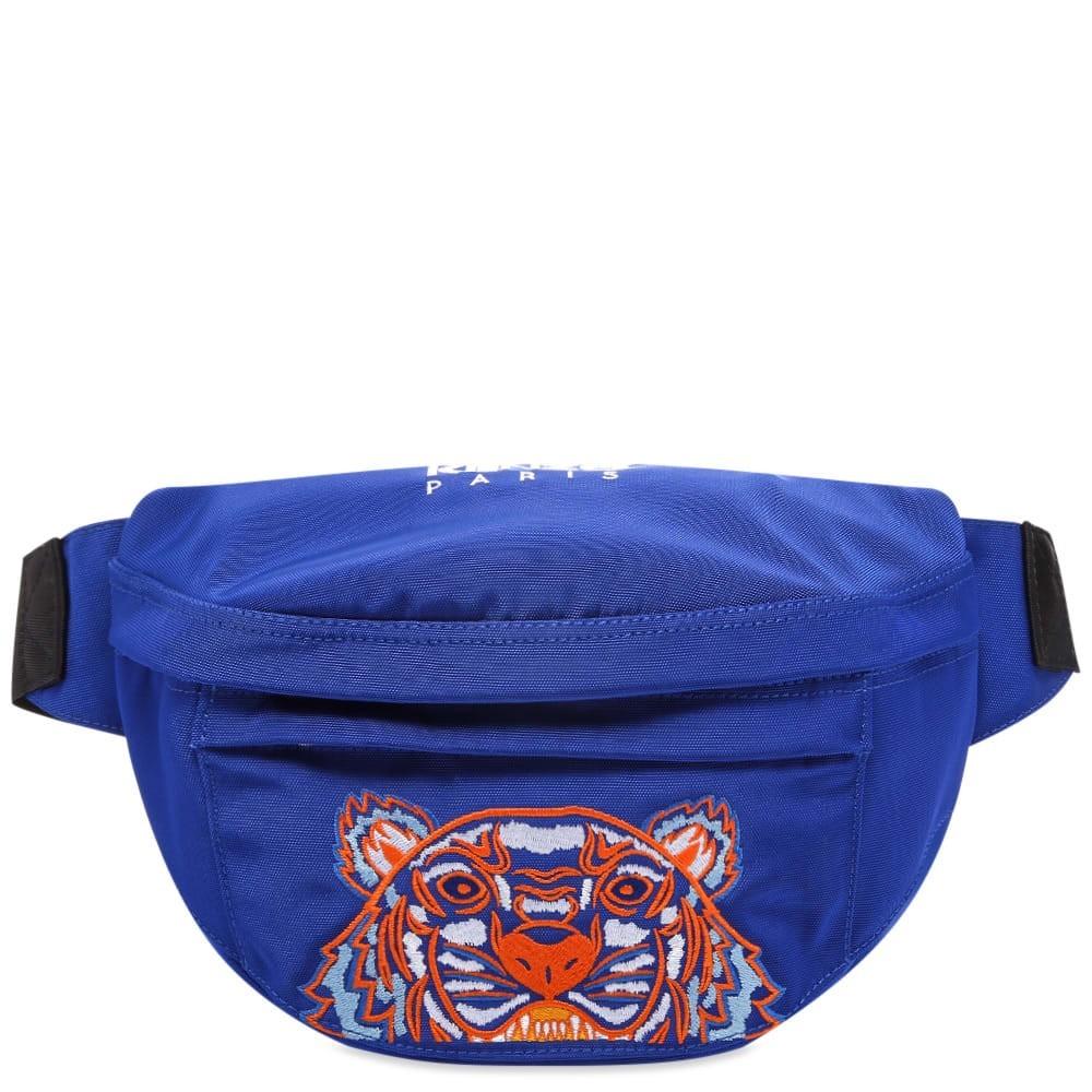 ファッションブランド カジュアル ファッション バッグ 【スーパーセール商品 12/4-12/11】KENZO 【 TIGER EMBROIDERED CROSS BODY BAG SLATE BLUE 】 バッグ 送料無料