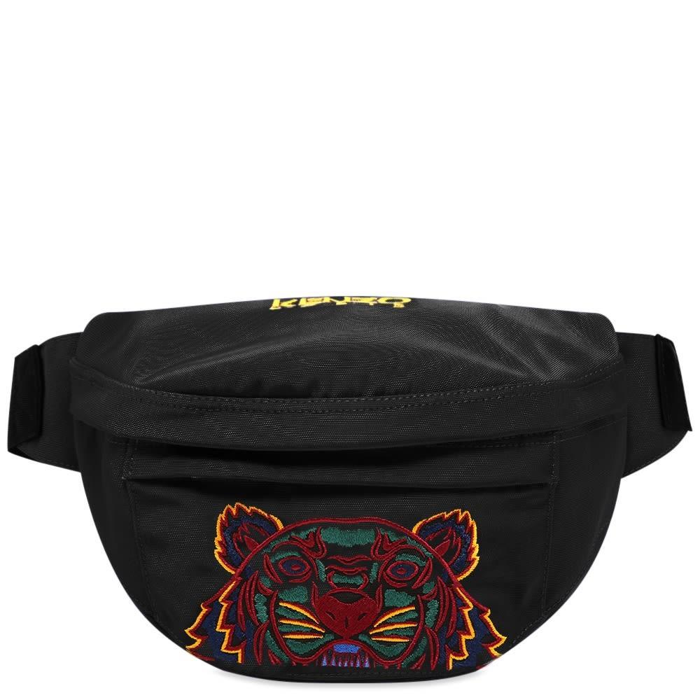 ファッションブランド カジュアル ファッション バッグ 【スーパーセール商品 12/4-12/11】KENZO 【 TIGER EMBROIDERED CROSS BODY BAG BLACK 】 バッグ 送料無料