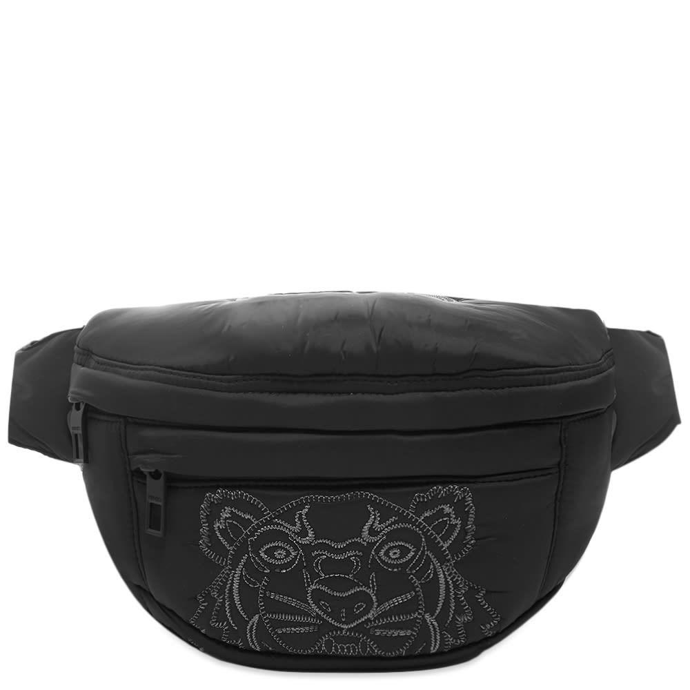 ファッションブランド カジュアル ファッション バッグ 【スーパーセール商品 12/4-12/11】KENZO ナイロン 【 TIGER EMBROIDERED NYLON CROSS BODY BAG BLACK 】 バッグ 送料無料