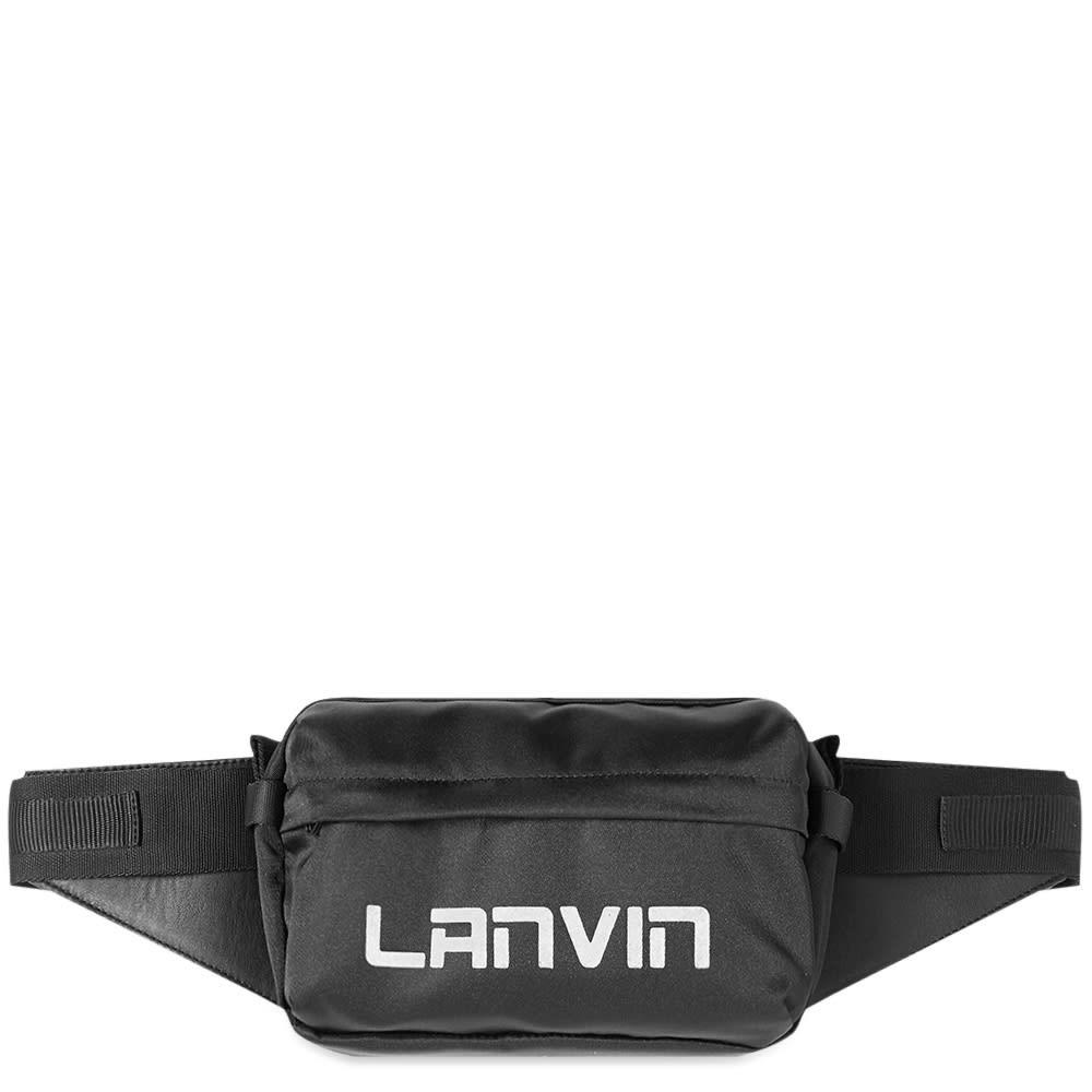 ファッションブランド カジュアル ファッション バッグ 【スーパーセール商品 12/4-12/11】LANVIN ロゴ 【 LOGO CROSSBODY BAG BLACK 】 バッグ 送料無料