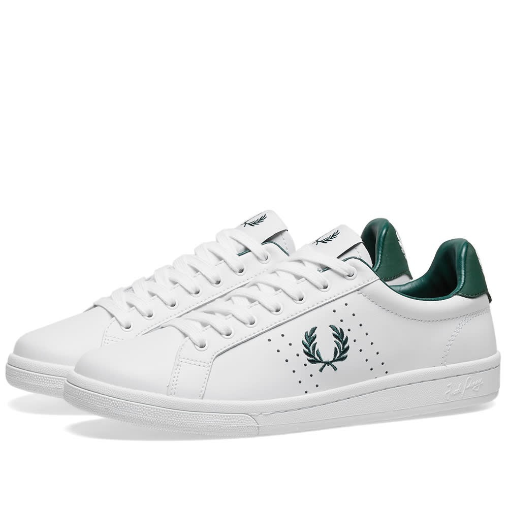 FRED PERRY AUTHENTIC レザー スニーカー メンズ 【 B721 Leather Sneaker 】 White