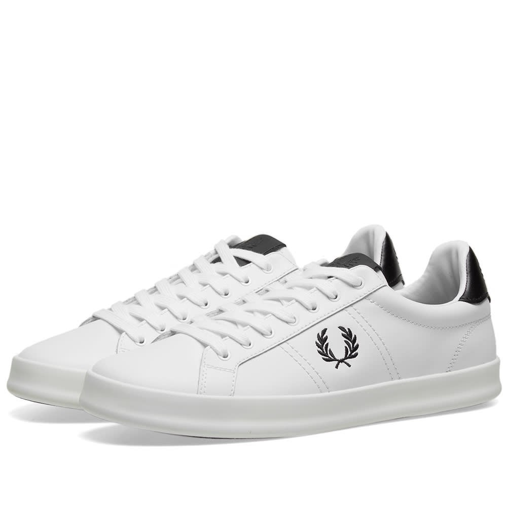 FRED PERRY AUTHENTIC レザー スニーカー メンズ 【 B721 Vulc Leather 】 White