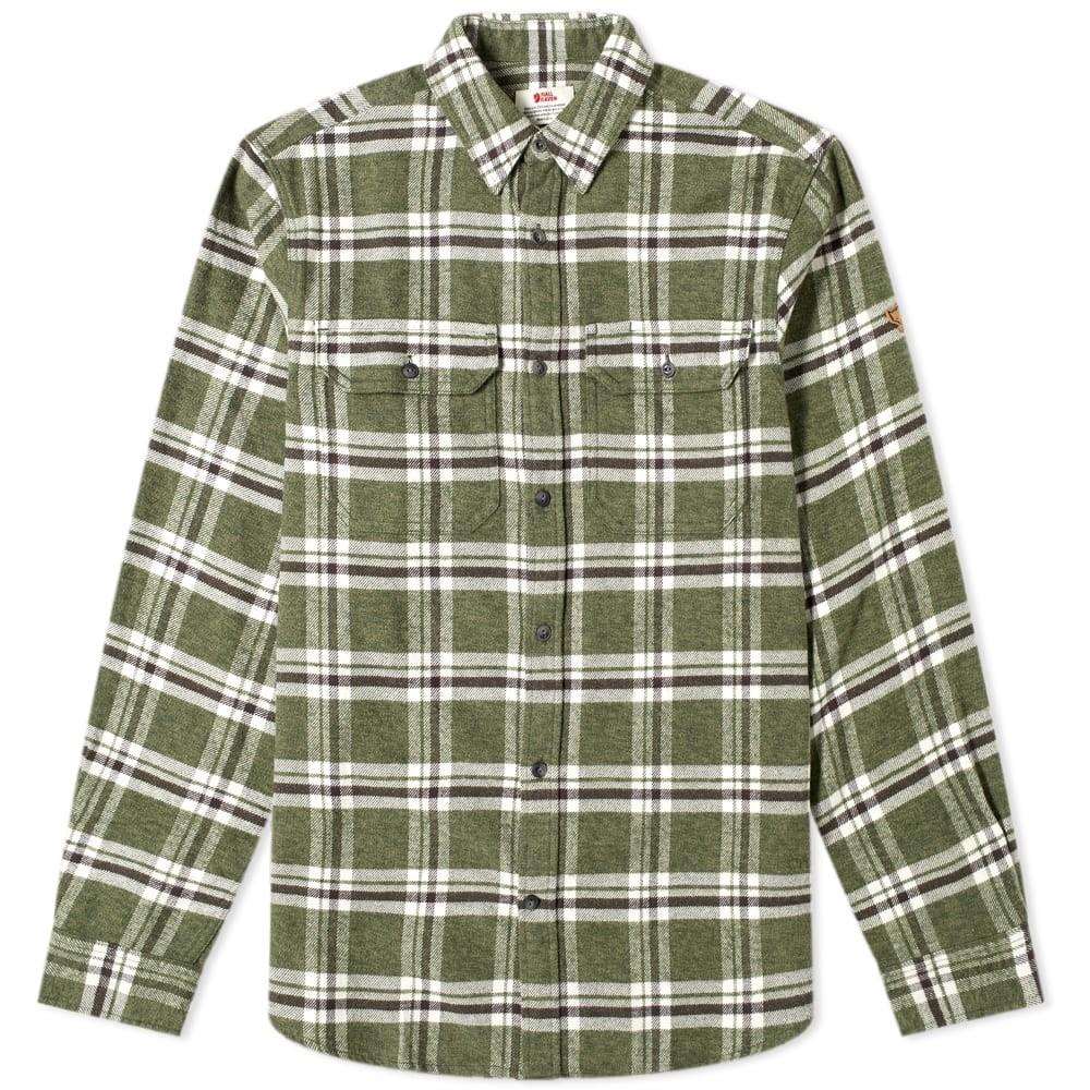 FJ?LLR?VEN 【 OVIK HEAVY FLANNEL SHIRT DEEP FOREST 】 メンズファッション トップス カジュアルシャツ 送料無料
