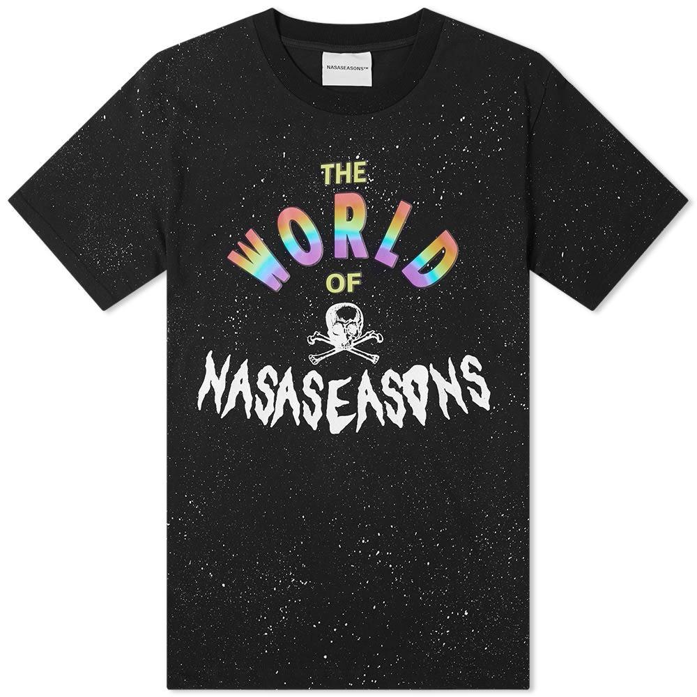 【スーパーセール中! 6/11深夜2時迄】NASASEASONS Tシャツ メンズファッション トップス カットソー メンズ 【 World Of Tee 】 Black