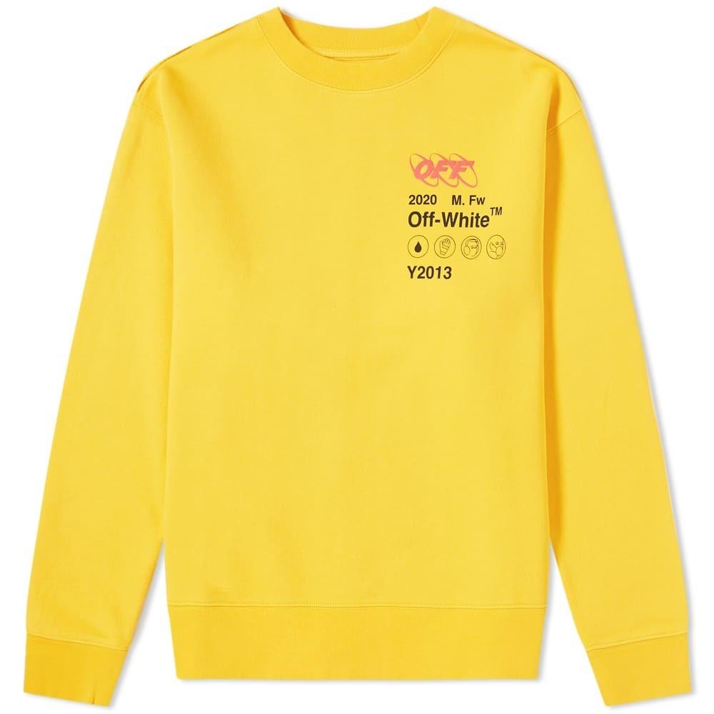 OFF-WHITE スウェット メンズファッション トップス トレーナー メンズ 【 Industrial Y013 Crew Sweat 】 Yellow
