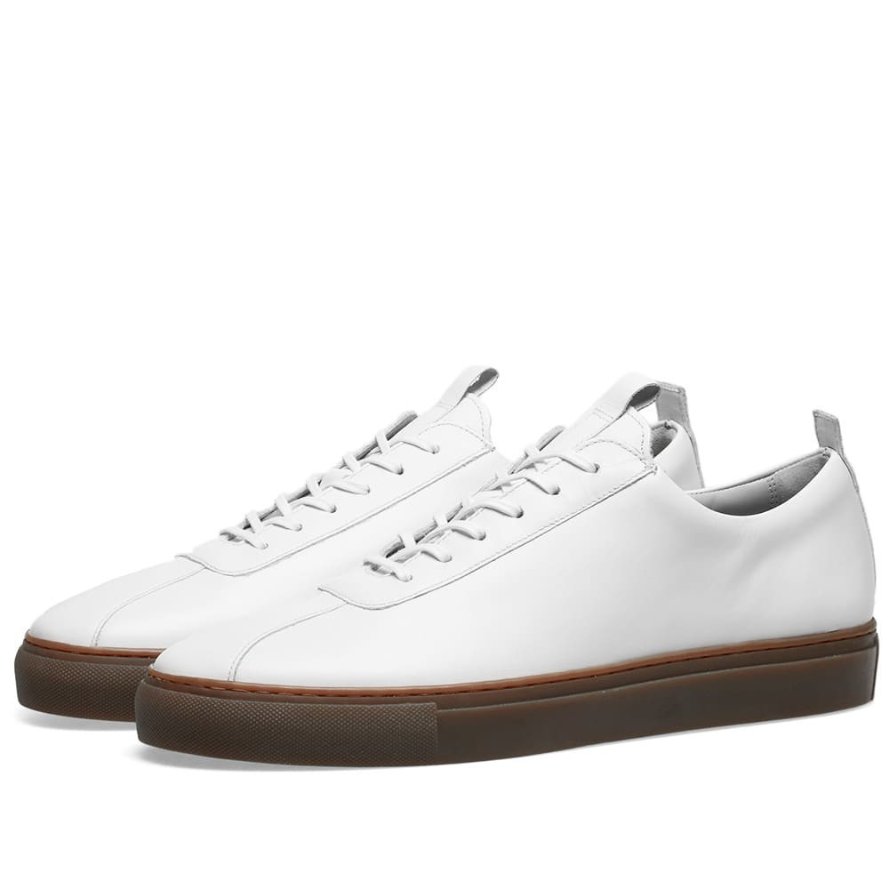 GRENSON & スニーカー 【 SNEAKER 1 WHITE CALF GUM SOLE 】 メンズ 送料無料