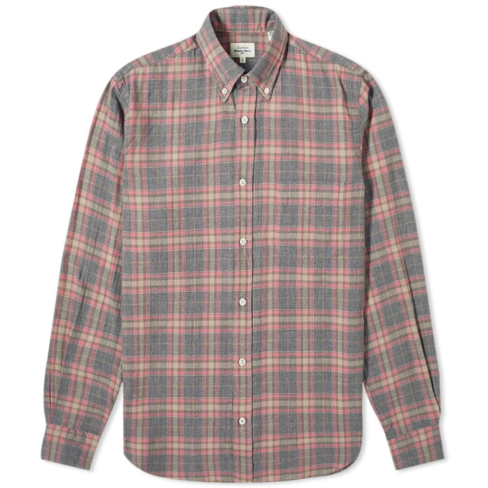 HARTFORD & 【 PAL POCKET SHIRT PINK GREY 】 メンズファッション トップス カジュアルシャツ 送料無料