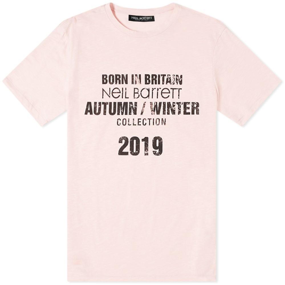 NEIL BARRETT コレクション & 【 COLLECTION DATE TEE PINK BLACK 】 メンズファッション トップス Tシャツ カットソー 送料無料