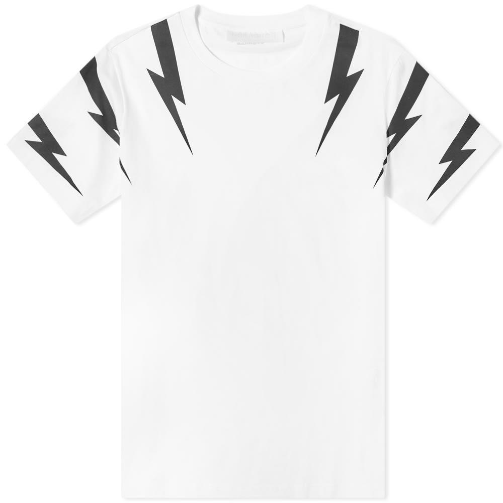 NEIL BARRETT ボルト Tシャツ メンズファッション トップス カットソー メンズ 【 Tiger Bolt Tee 】 White & Black