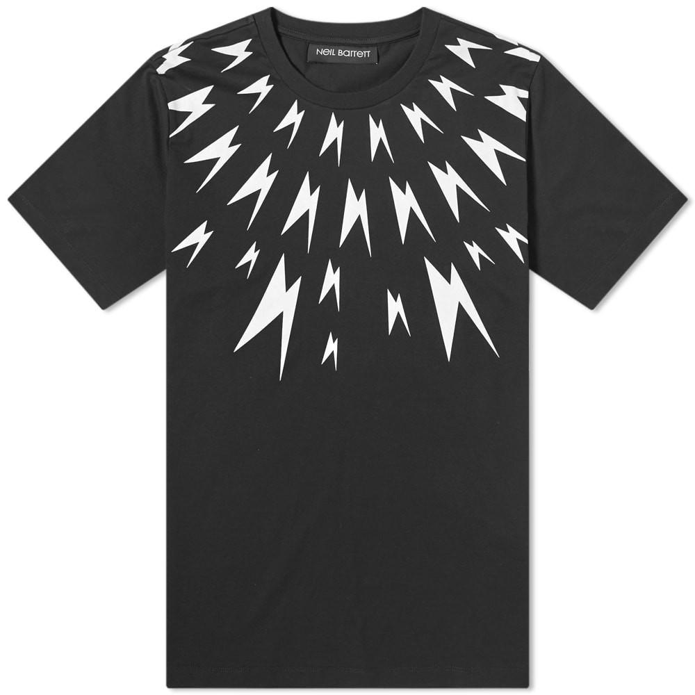 【NeaYearSALE1/1-1/5】NEIL BARRETT & 【 METEORITE THUNDERBOLT YOLK TEE BLACK WHITE 】 メンズファッション トップス Tシャツ カットソー 送料無料