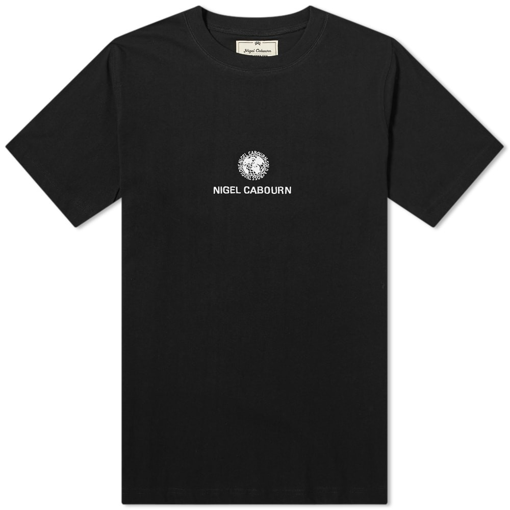 NIGEL CABOURN ロゴ Tシャツ メンズファッション トップス カットソー メンズ 【 Globe Logo Tee 】 Black