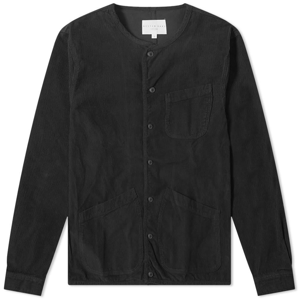 KESTIN HARE コーデュロイ 【 CORDUROY NEIST OVERSHIRT BLACK 】 メンズファッション トップス カジュアルシャツ 送料無料