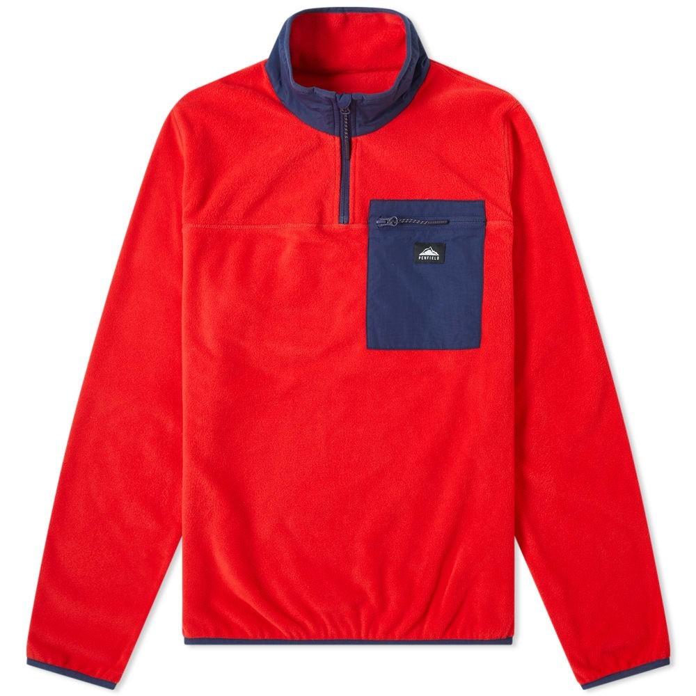 PENFIELD ハーフ 【 YUMA HALF ZIP FLEECE MARS RED 】 メンズファッション トップス スウェット トレーナー 送料無料