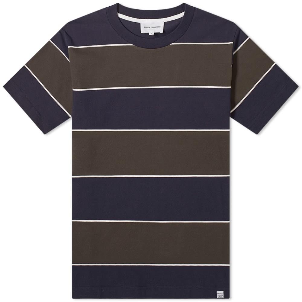 NORSE PROJECTS ストライプ Tシャツ メンズファッション トップス カットソー メンズ 【 Johannes 3 Stripe Tee 】 Beech Green