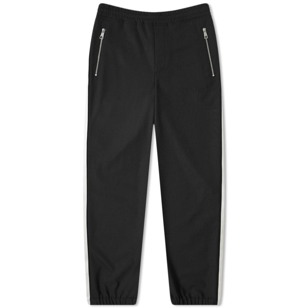 NEIL BARRETT トラック パンツ 黒 ブラック 白 ホワイト & 【 BLACK WHITE NEIL BARRETT TAPED TRACK PANT 】 メンズファッション ズボン パンツ