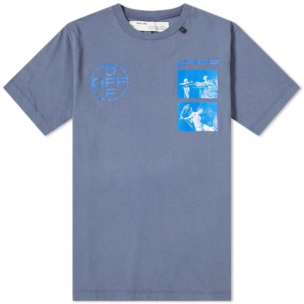 【特価】 OFF-WHITE【 OFF-WHITE OFFWHITE HARDCORE CARAVAGGIO TEE【 Tシャツ INDIGO】 メンズファッション トップス Tシャツ カットソー 送料無料:スニーカーケース 店, 価格は安く:c46a31ec --- nagari.or.id