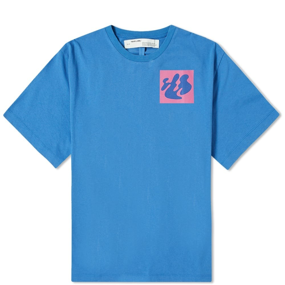 OFF-WHITE 【 OFFWHITE SHAPE OF OVERSIZED TEE BLUE 】 メンズファッション トップス Tシャツ カットソー 送料無料
