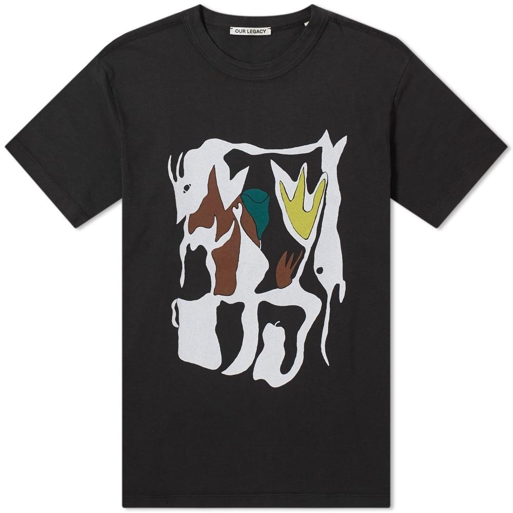 【スーパーセール中! 6/11深夜2時迄】OUR LEGACY ボックス Tシャツ メンズファッション トップス カットソー メンズ 【 New Box Tee 】 Table Swordfish Print