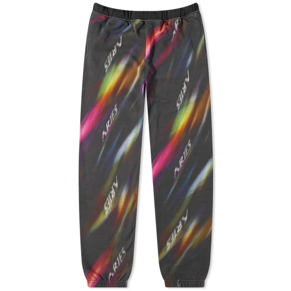ARIES スウェット & 【 SWEAT AURORA PANT BLACK MULTI 】 メンズファッション ズボン パンツ 送料無料