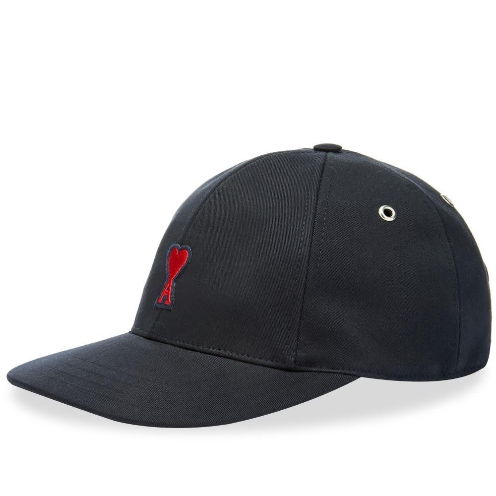 ファッションブランド カジュアル ファッション キャップ ハット AMI ロゴ ベースボール 【 HEART LOGO BASEBALL CAP NAVY 】 バッグ キャップ 帽子 メンズキャップ 送料無料