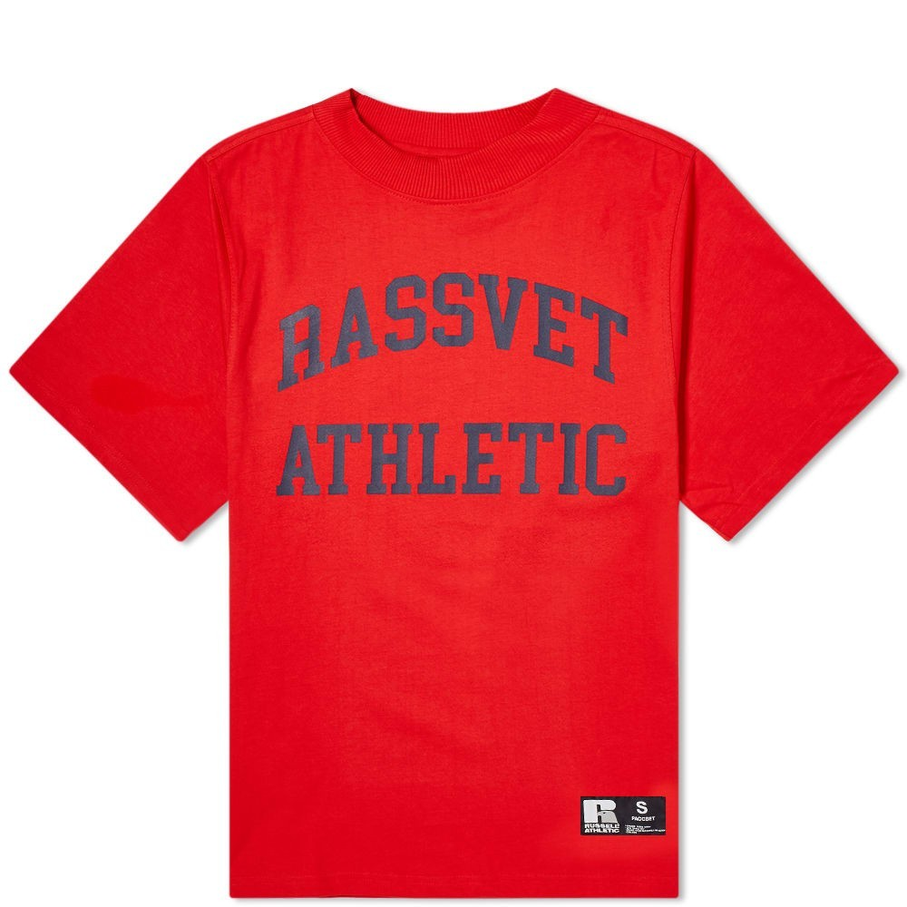PACCBET ラッセル 【 X RUSSELL ATHLETIC TEE RED 】 メンズファッション トップス Tシャツ カットソー 送料無料