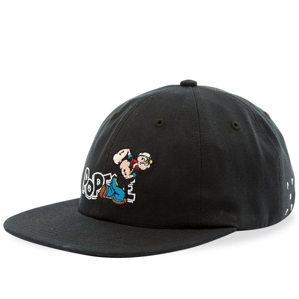 ファッションブランド カジュアル ファッション キャップ ハット POP TRADING COMPANY ベースボール 【 X POPEYE BASEBALL CAP BLACK 】 バッグ キャップ 帽子 メンズキャップ 送料無料