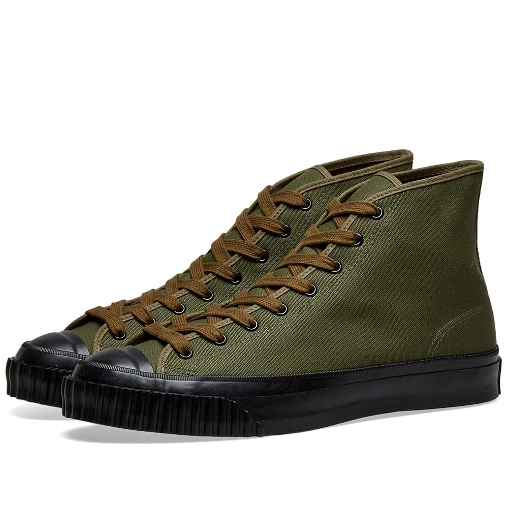 THE REAL MCCOYS トレーニング スニーカー メンズ 【 The Real Mccoys Military Canvas Training Shoe 】 Olive