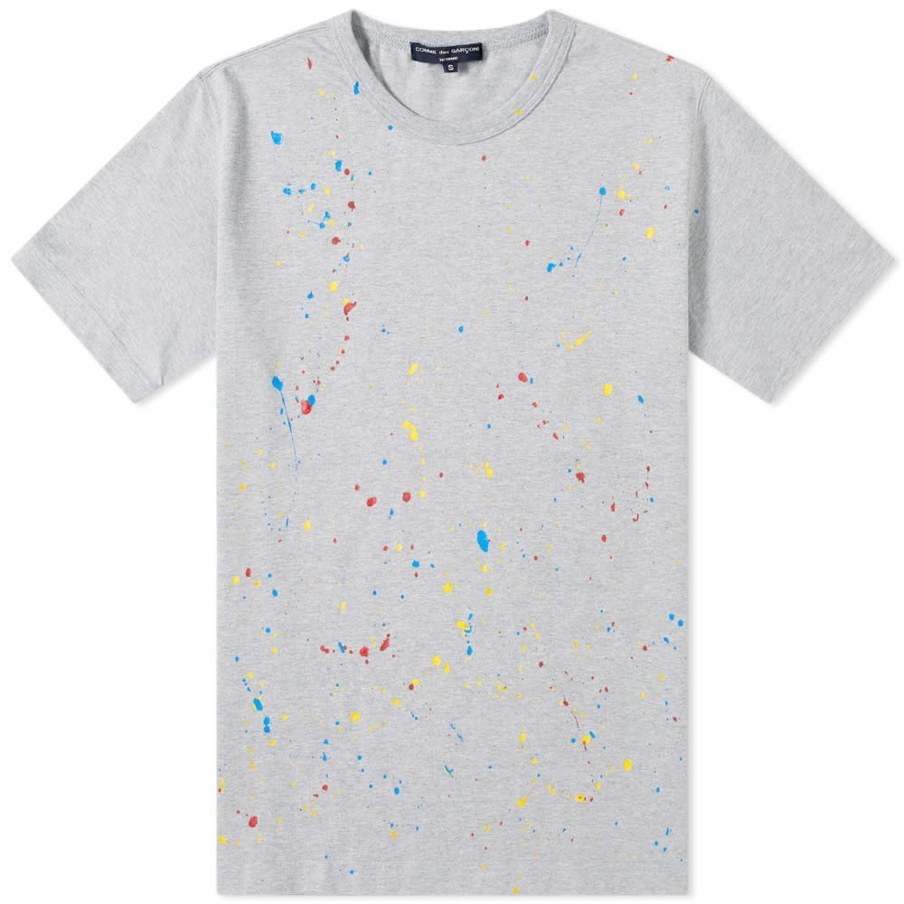 COMME DES GAR?ONS HOMME 【 GARCONS PAINTED TEE GREY 】 メンズファッション トップス Tシャツ カットソー 送料無料