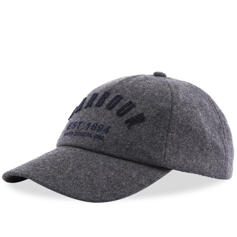ファッションブランド カジュアル ファッション キャップ ハット バブアー BARBOUR ロゴ 【 PREP LOGO WOOL SPORTS CAP GREY 】 バッグ キャップ 帽子 メンズキャップ 送料無料